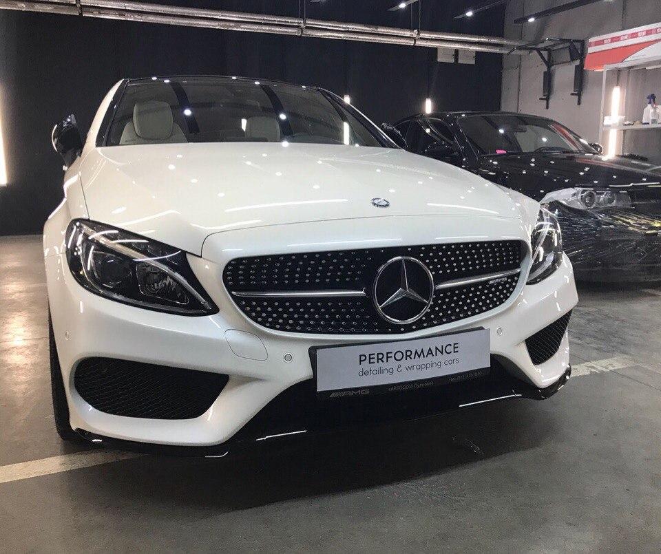 Оклейка антигравийной пленкой, тонировка и жидкое стекло для Mercedes Benz C 4.3 AMG