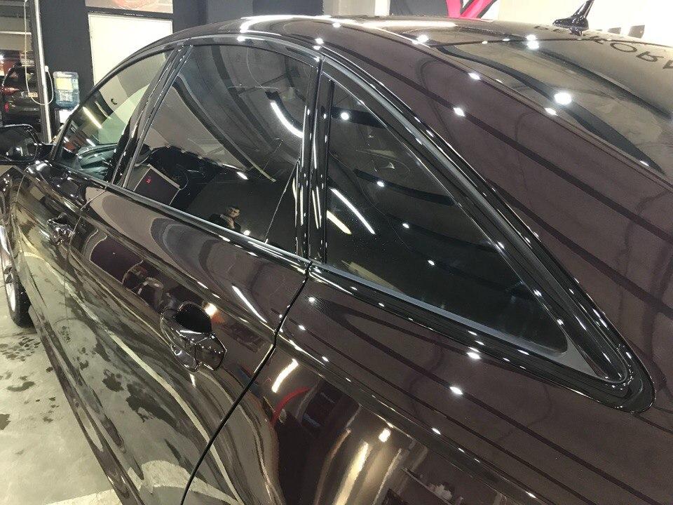 Оклейка антигравийной пленкой, тонировка и покрытие керамикой авто Audi A6