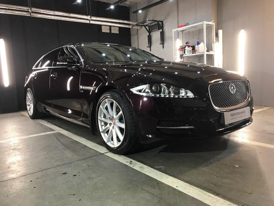 Полировка и покрытие жидким стеклом Jaguar XJ