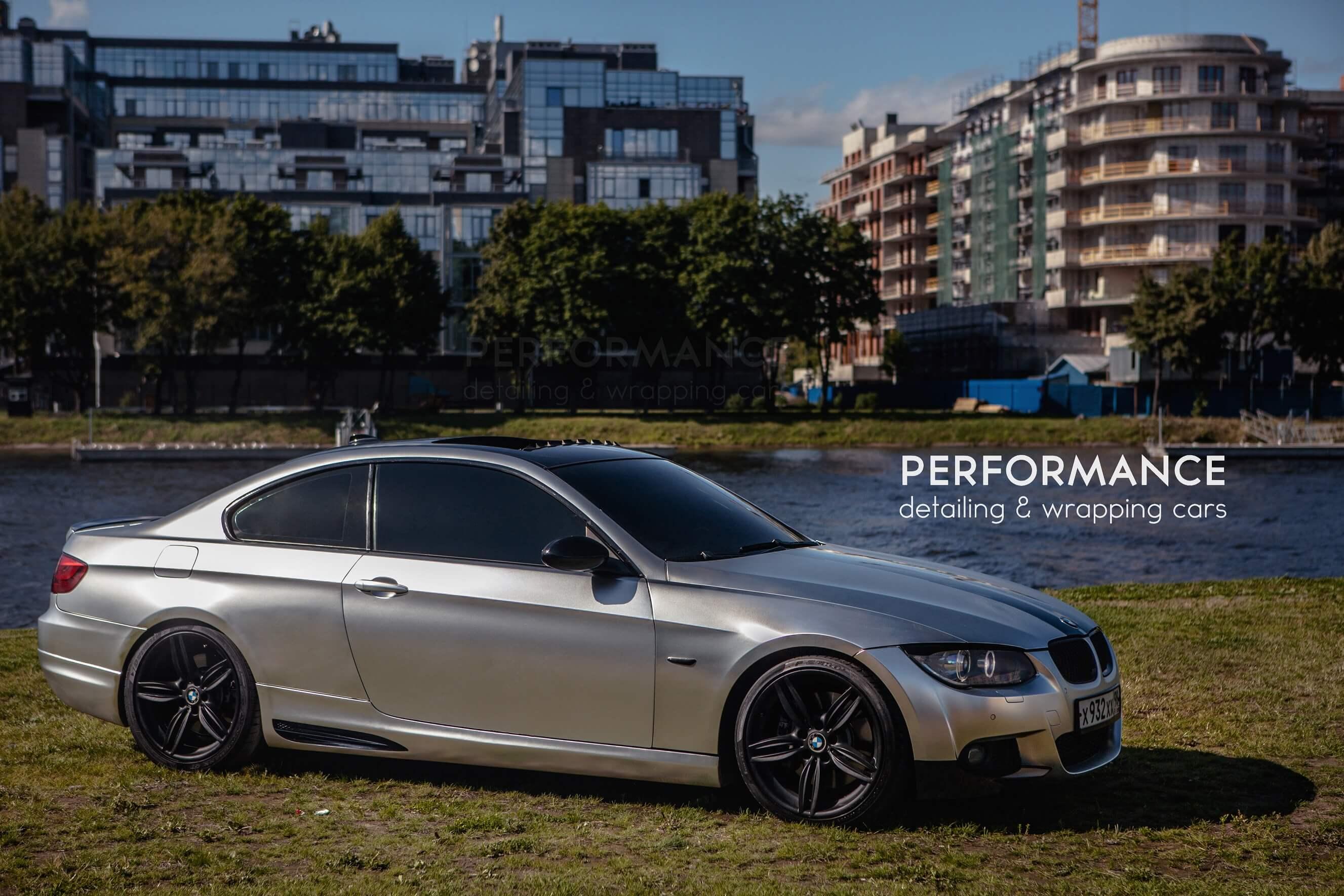 BMW 335 Матовый хром