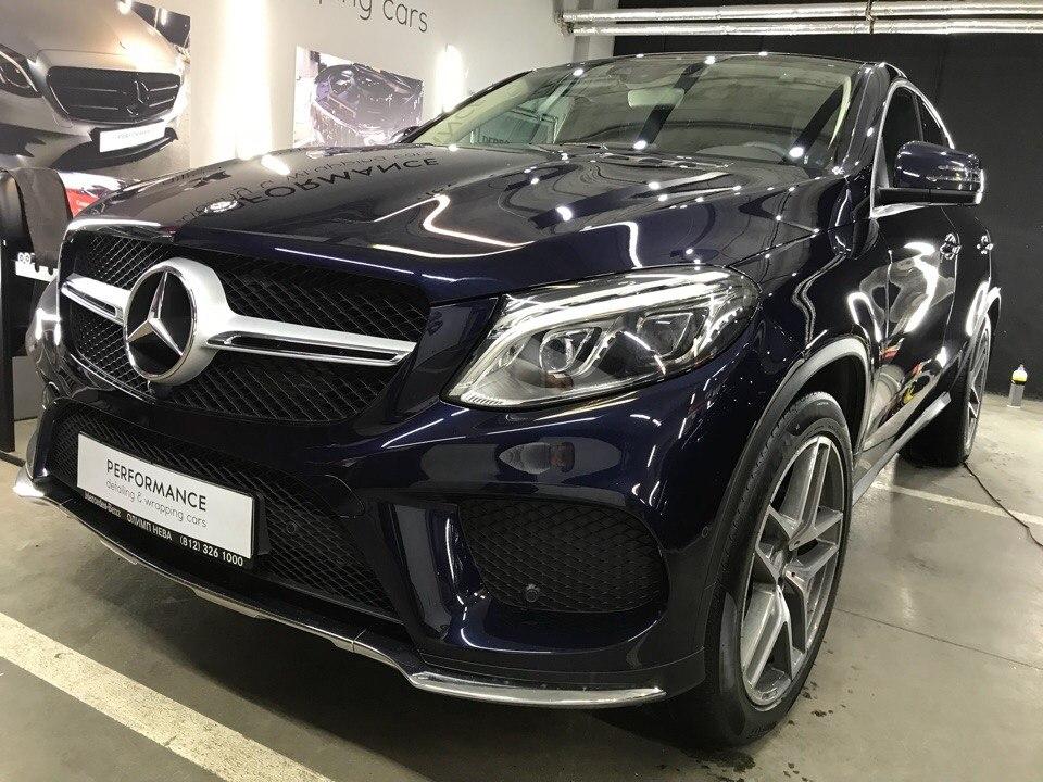 Оклейка антигравийной пленкой, тонировка, покрытие керамикой Mercedes Benz GLE