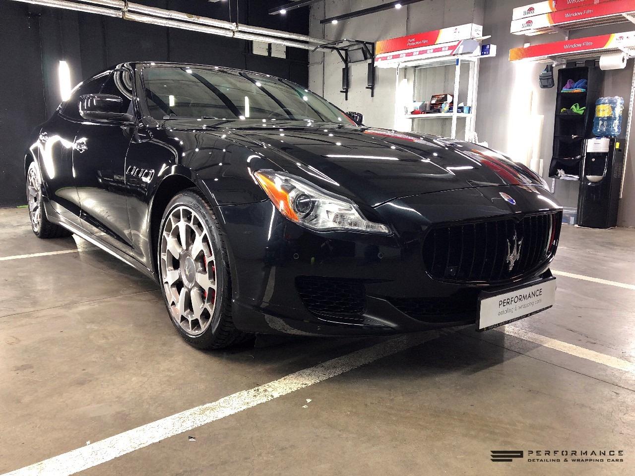 Оклейка антигравийной полеуретановой пленкой Maserati Quattroporte