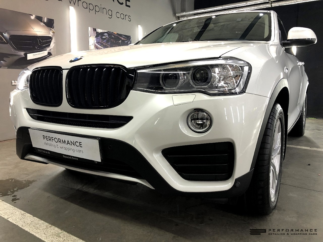 Антихром и оклейка антигравийной пленкой BMW X4