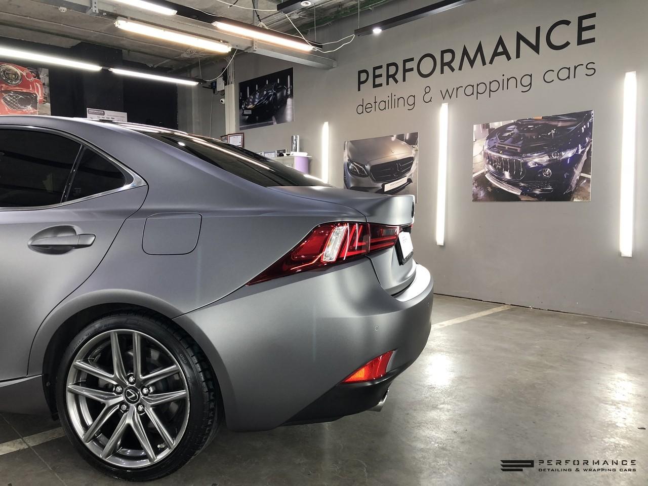 Фото Матовый винил на Lexus IS — 3 шага к стильной классике