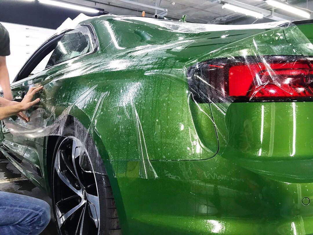 Оклейка полеуретановой пленкой, тонировка, керамика на Audi RS5